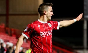 Joe Bryan, pictured celebrating his goal against Middlesbrough on Saturday, has come to the aid of a local non-league player who suffered a serious injury.