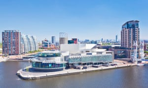 The Lowry centre and apartments at Salford quays.