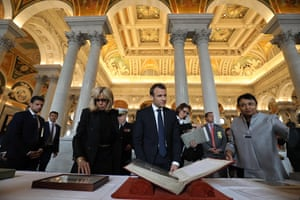 The Macrons visit the Library of Congress