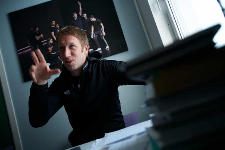 Graham Potter in his Östersunds office.