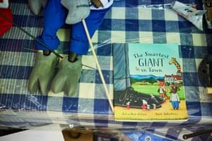 A copy of the book for reference for the puppet maker