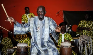 Doudou N'diaye Rose performing in Dakar in 2013.
