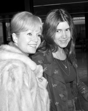 Reynolds and Fisher at Heathrow Airport in 1972