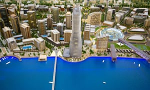 'No meaning' ... a model of the Belgrade Waterfront project.