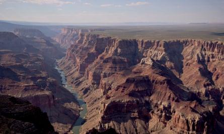 The Colorado river runs through Grand Canyon national park.
