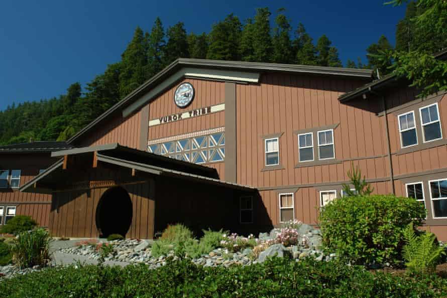 Yurok tribal headquarters in Klamath, California.