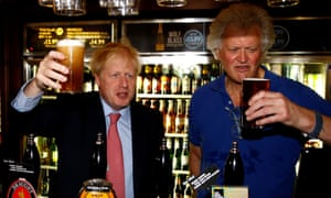 Boris Johnson visiting Wetherspoons Metropolitan bar in London