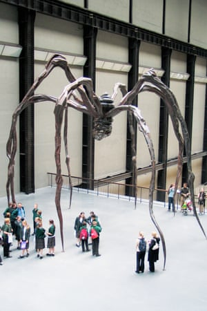 Spider by Louise Bourgeois in the Turbine Hall.