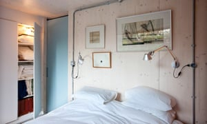 Box of delights: one of the two lower ground bedrooms.