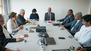 For the first time, this round of UN climate talks is being held by one of the small island nations that are most at risk from the sea-level rise and extreme storms that climate change is bringing. Fiji's prime minister, Frank Bainimarama (second right), is the COP president, though the summit is being held in Germany for practical reasons.