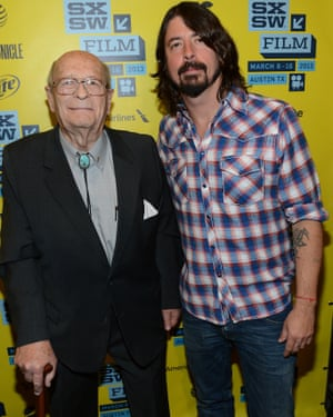 Neve with Dave Grohl at SXSW in 2013.