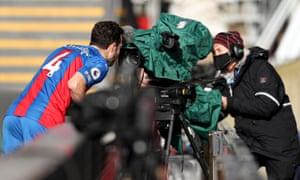 Luka Milivojevic of Crystal Palace celebrates after opening the scoring.