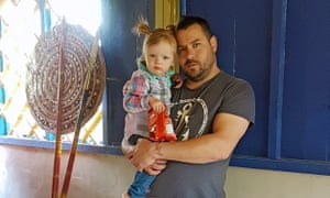 Michael Tyser with his two-year-old daughter Maya.