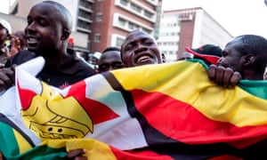 Supporters of the opposition MDC in Harare