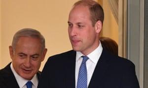 Benjamin Netanyahu and Prince William.