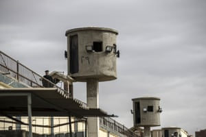 The watch towers at Tora prison, in Cairo.