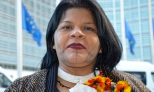Sônia Guajajara, the leader of Articulação dos Povos Indígenas do Brasil.