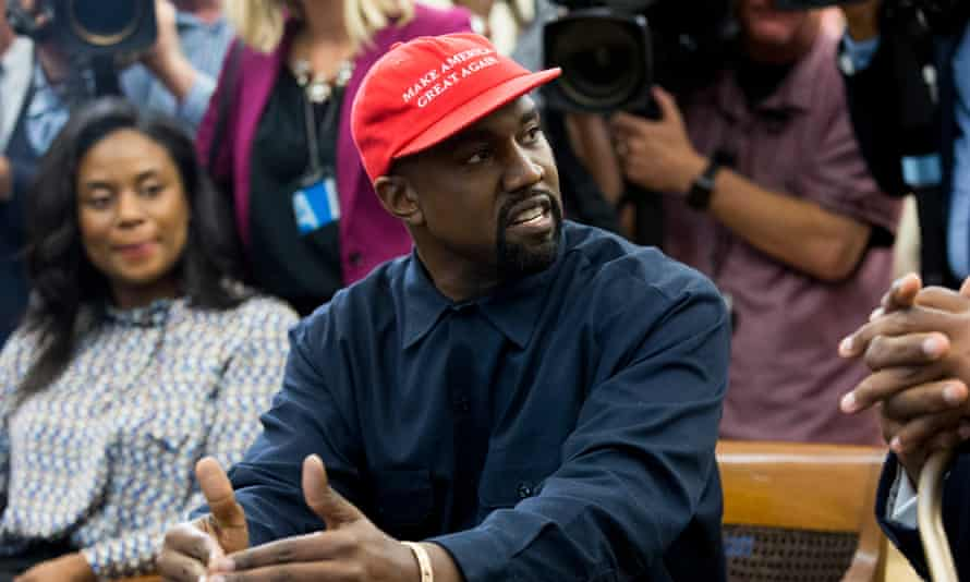 Kanye West, who has thrown his support behind Amara Enyia as well as Donald Trump.