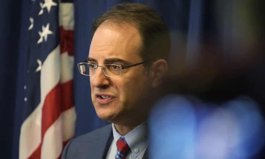 Colorado attorney general Phil Weiser at a news conference in Denver, Colorado, on Wednesday.