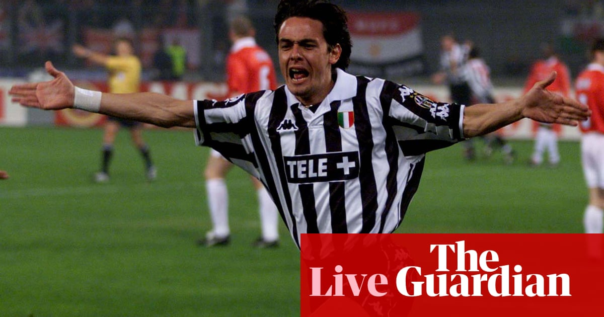Juventus v Manchester United: 1999 Champions League semi-final – live!