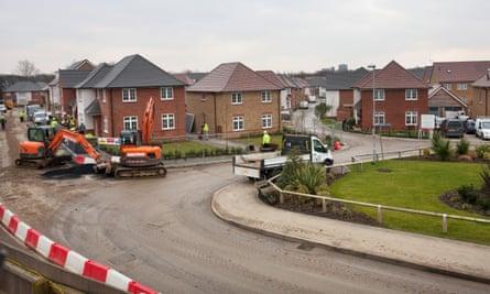 A housing development in Essex