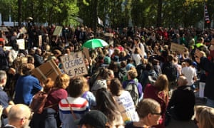 Young people take part in the global climate strike in Brussels, Belgium