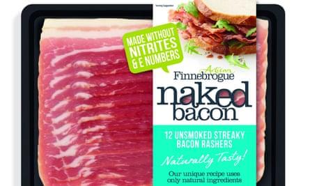 Naked Bacon's nitrite-free streaky bacon rashers.