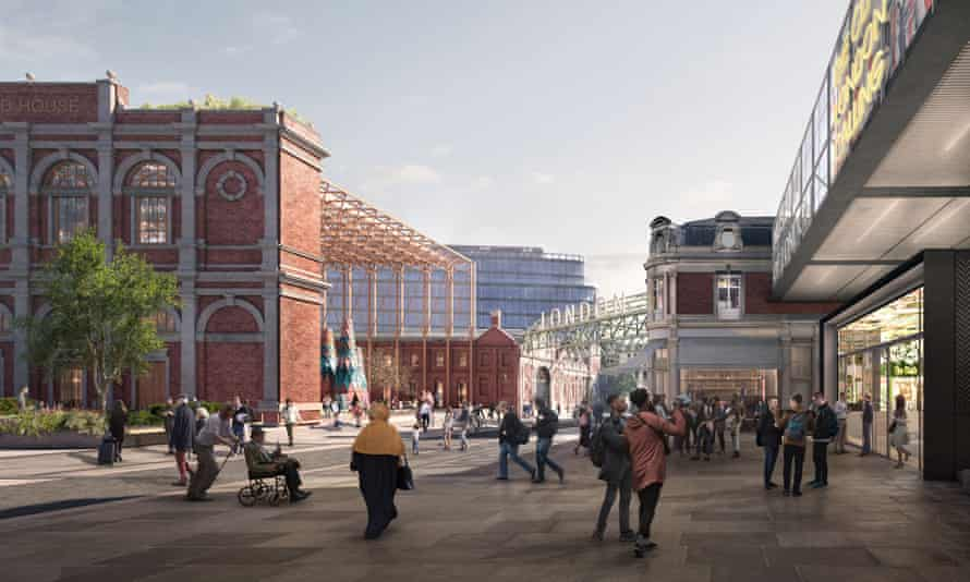 An artistic impression of the new Museum of London along West Smithfield.