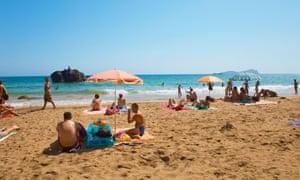 Aiguas Blancas beach.
