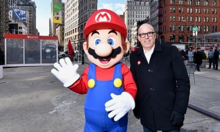 Doug Bowser with Mario.