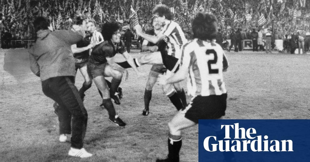 Kung-fu kicks and riot police: the day Maradona got Barça brawling