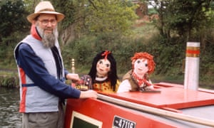 John Cunliffe pictured with his Rosie and Jim characters in 1999.