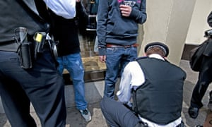 Young boys being stopped and searched by police