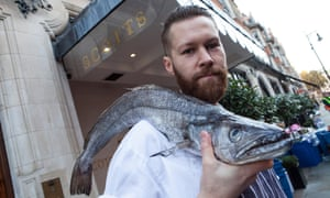 Catch of the day: Scott's sous chef Tom Fraser.