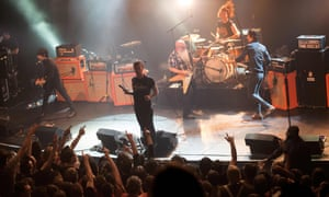 Eagles of Death Metal performing on 13 November at the Bataclan concert hall in Paris a few moments before the attack.