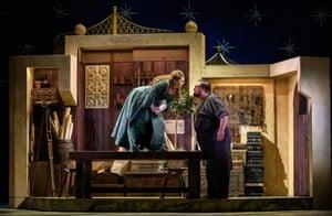 Nazan Fikret (Blonde) and Matthew Stiff (Osmin) in The Seraglio.