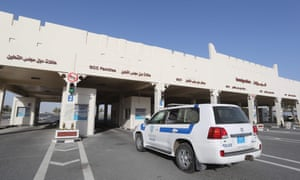 Qatari side of the Abu Samrah border crossing with Saudi Arabia