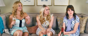 Claudia O'Doherty (right) in Trainwreck.