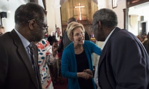 Elizabeth Warren on a campaign visit to Selma, Alabama, a cradle of the civil rights movement.