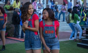 Megalyn Echikunwoke and Naturi Naughton in Step Sisters.