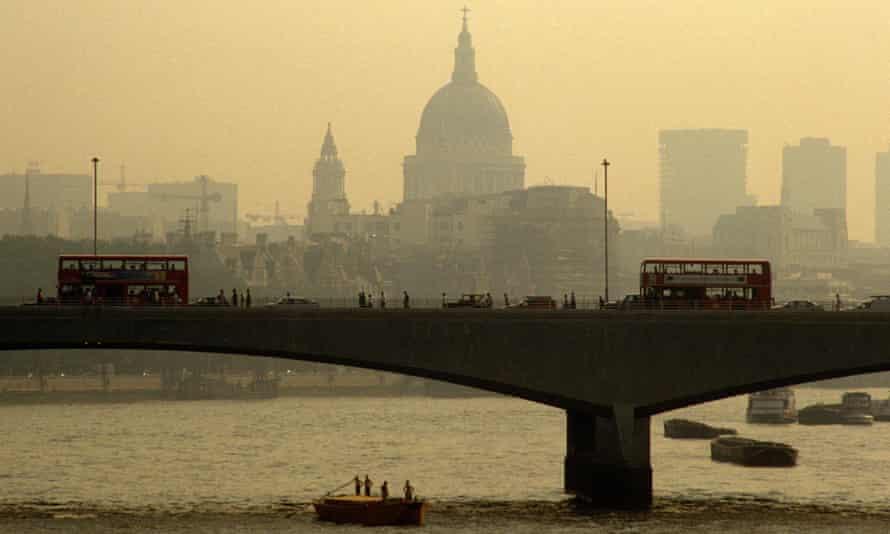 Waterloo Bridge, London, in smog