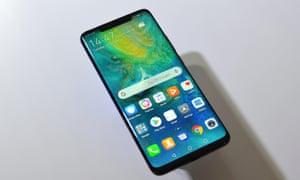 The Huawei Mate 20 Pro smartphone