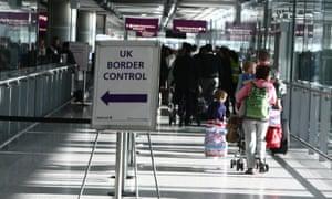 border control at London's Heathrow.