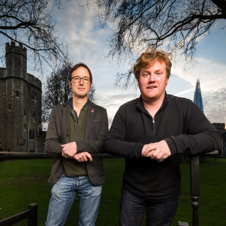 'The success took us all by surprise' … Tom Piper, left, and Paul Cummins at the Tower.