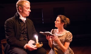 Jamie Newall (Casaubon) and Georgina Strawson (Dorothea) in Dorothea's Story from in The Middlemarch Trilogy by George Eliot at the Orange Tree Theatre, Richmond in 2013.