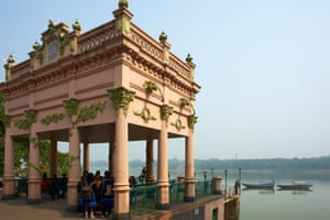 Chandannagar and the Hooghly River, West Bengal, India.