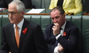 Barnaby Joyce during House of Representatives question time