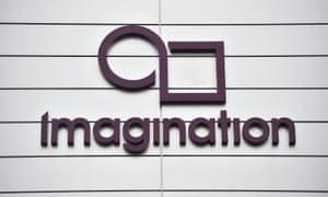 Imagination Technologies' logo at it headquarters in Hertfordshire, UK