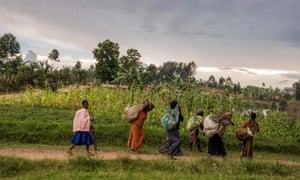 Women walking in Butembo, North Kivu province, DRC.