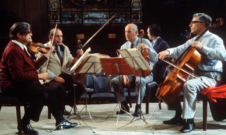 Martin Lovett, right, with the Amadeus Quartet, from left, Norbert Brainin, Siegmund Nissel and Peter Schidlof.